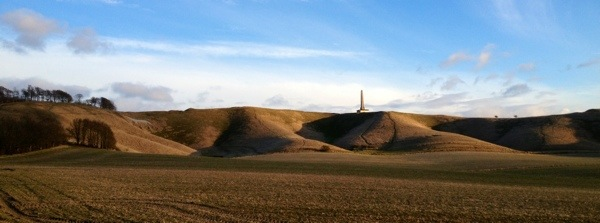Cherhill Monument and White Horse