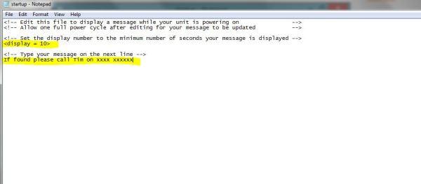 Garmin Edge Start Up File