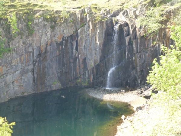 Disused Quarry and Waterfall on Little Arrow Moor