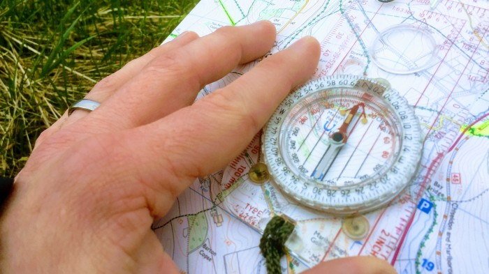 Map reading compass skills