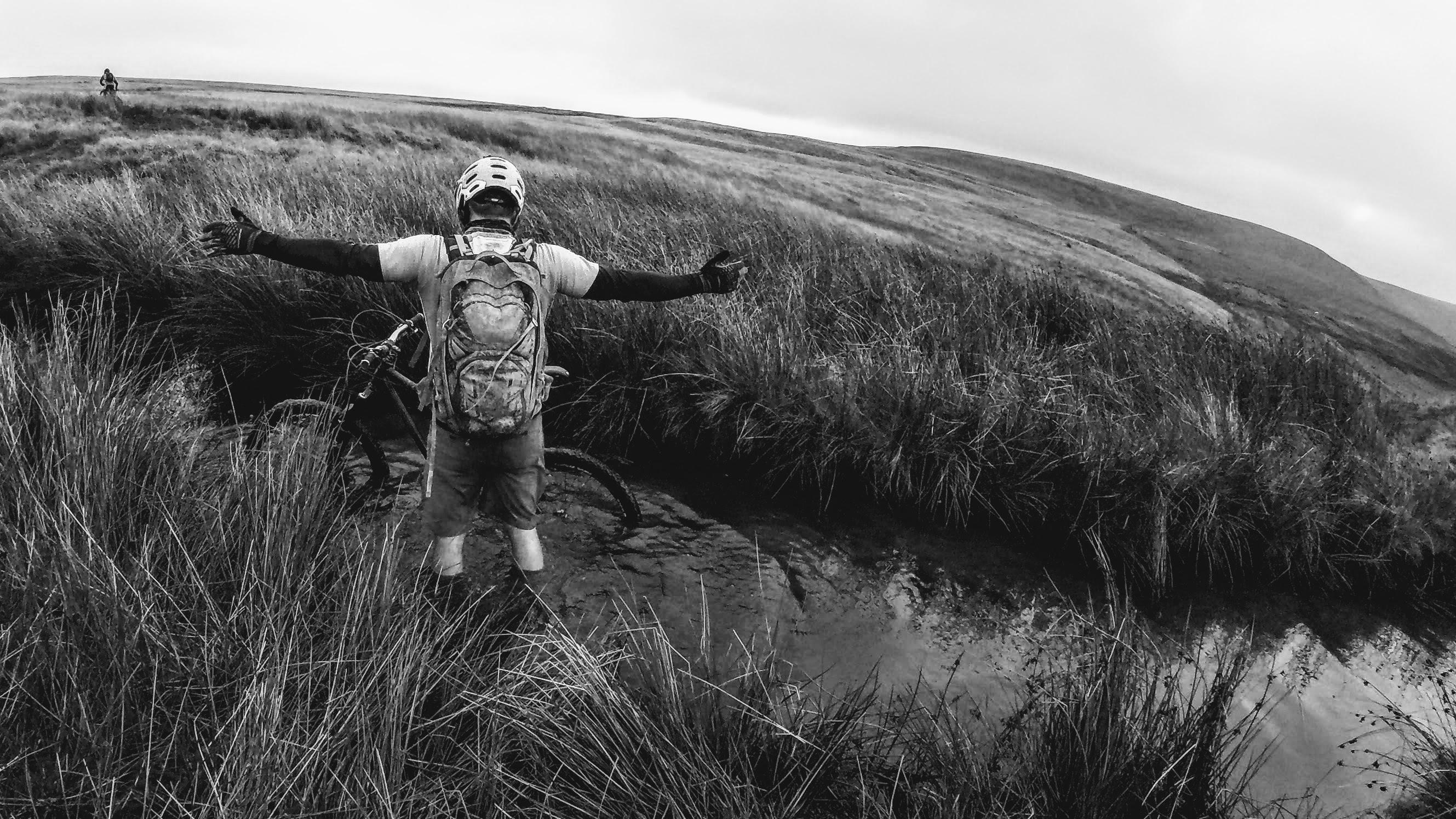 Jay Mud (Mudtrek) testing the water depth