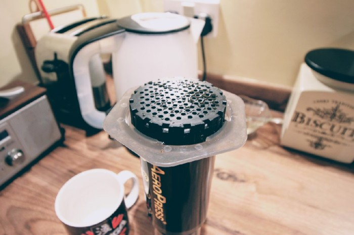 Alterntive method coffee made with Aeropress